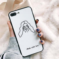 Freckles girl iphone case