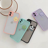 Animal face color side iphone case