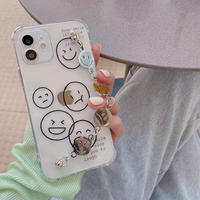 Smile drawing strap iphone case