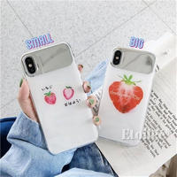 White strawberry mirror iphone case