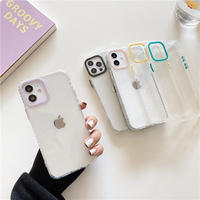 Color camera hole clear iphone case
