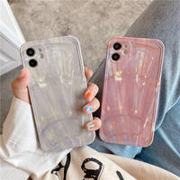 Pink grey marble iphone case