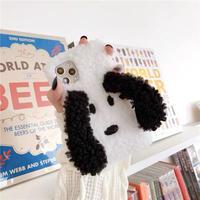 White dog fur iphone case