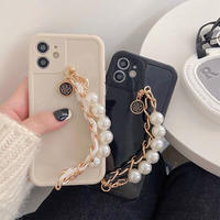 Pearl chain strap iphone case