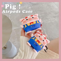 Blue pants pig airpods case