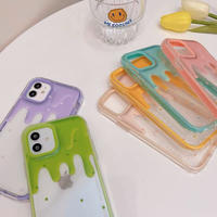 Icecream side frame clear iphone case