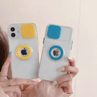 Color ring clear iphone case (Yellow, Blue)