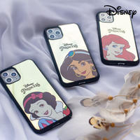 [Disney]  Princess hightlight close up color mirror black case