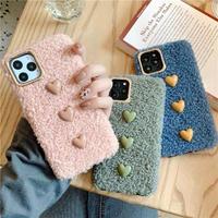 3hearts fur  iphone case