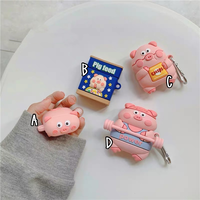 Pig family airpods case