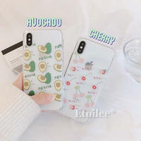 Avocado cherry clear iphone case
