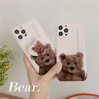 Teddybear grip iphone case