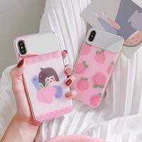 Peach girl mirror iphone case