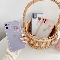Grape peach strawberry color side iphone case