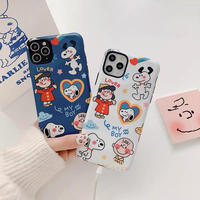 Cartoon drawing white blue iphone case