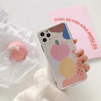 Lemon peach iphone case