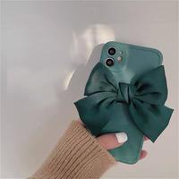 Green big ribbon iphone case