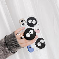 Black monster white pattern with grip iphone case