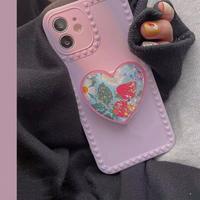 Lightpurple strawberry grip iphone case