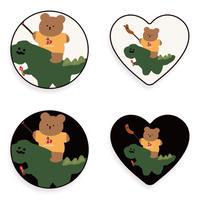 Dino with bear grip 563