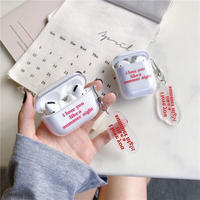 Summer night clear keyring airpods case