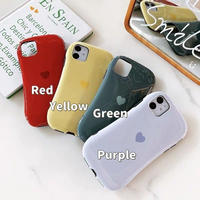 Heart solid color iphone case
