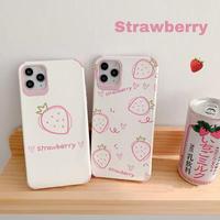 Strawberry pattern white iphone case