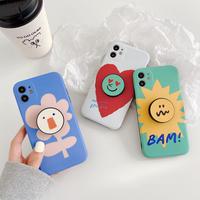 Flower heart bam grip iphone case