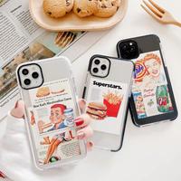 Hamburger boy girl  iphone case
