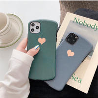 Bluegrey green heart iphone case