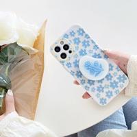 Blue flower grip iphone case