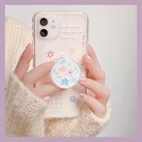 Flower drawing heart side with grip iphone case