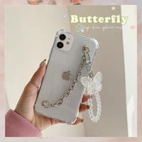 Butterfly strap clear iphone case