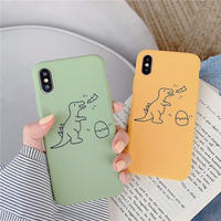 Dinosaur green yellow  iphone case