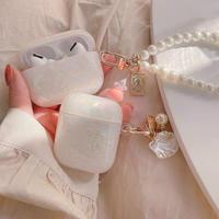 Aurora pearl strap airpods case