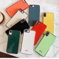 White Orange Red Lightgreen metal side  iphone case