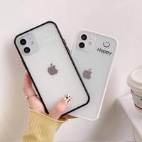 Happy black white side iphone case
