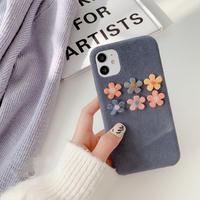 Flower blue fur iphone case