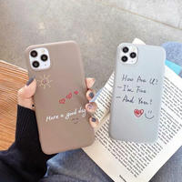 Hand writing brown grey iphone case