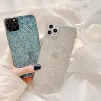 Silver blue glitter iphone case