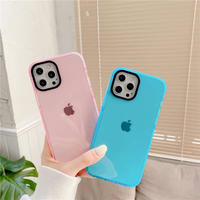 Simple pink blue clear iphone case