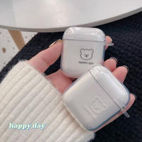 Happy day simple bear airpods case