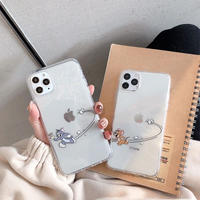 Mouse cat apple run clear iphone case