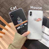 Flying mouse cat clear  iphone case