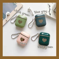 Metal color heart airpods case