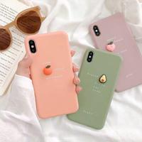 Avocado peach orange  iphone case