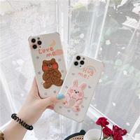 Love hug me bear rabbit iphone case