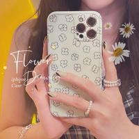 Simple flower drawing iphone case