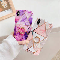 Marble with jewel ring iphone case