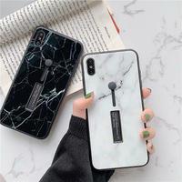 Marble hard black band iphone case
